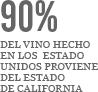 90% of the wine made in united states comes from california
